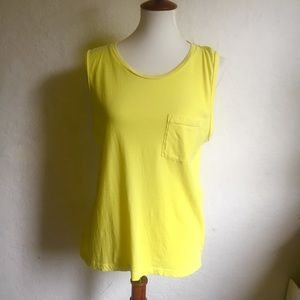 J. Crew Yellow Tank Top with Chest Pocket L